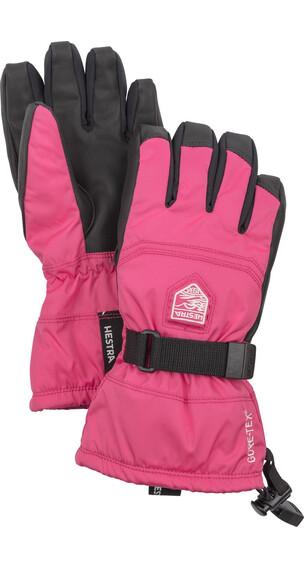 """Hestra Jr Gore-Tex Gauntlet Gloves 5-Finger Fuchsia"""